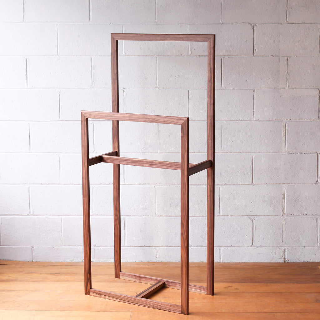 Clothes & Towel Throw Stand - Walnut