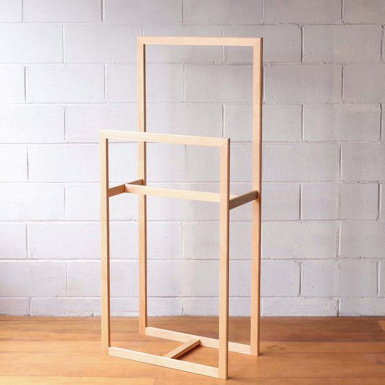 Clothes & Towel Throw Stand - Blonde