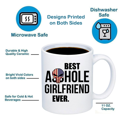 Image of Best Ahole Girlfriend Ever 11oz 15oz Coffee Mug