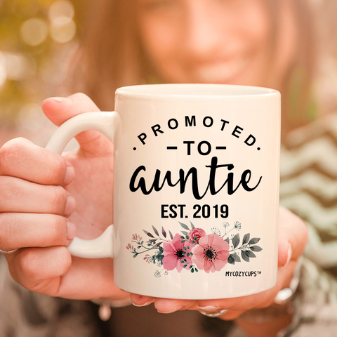 Promoted to Auntie 2019 11oz 15oz Coffee Mug