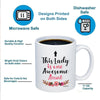 Image of This Lady Is One Awesome Aunt 11oz 15oz Coffee Mug