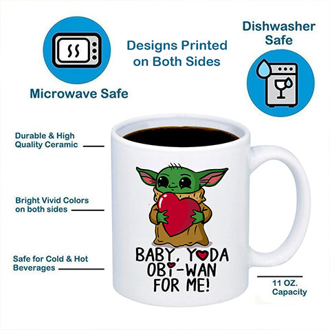 Image of Baby, Yoda Obi-Wan For Me Coffee Mug 11oz/15oz