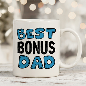 Best Bonus Dad Stepdad  11oz 15oz Coffee Mug