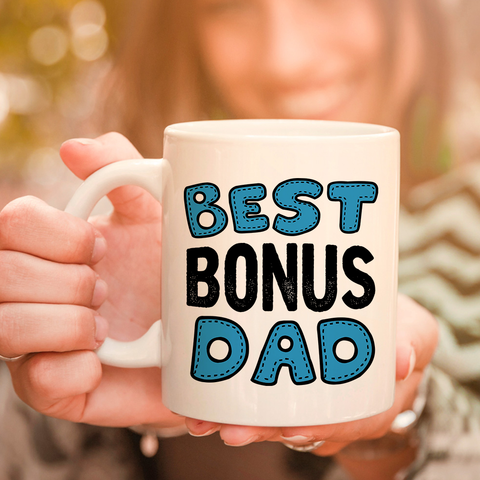 Image of Best Bonus Dad Stepdad  11oz 15oz Coffee Mug