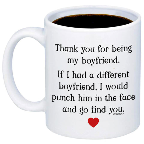 Thank You For Being My Boyfriend 11oz 15oz Coffee Mug