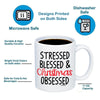 Image of Stressed Blessed And Christmas Obsessed 11oz 15oz Coffee Mug