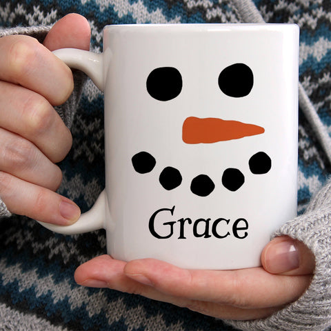 Personalized Snowman Hot Chocolate Christmas Mug 11oz 15oz Cup