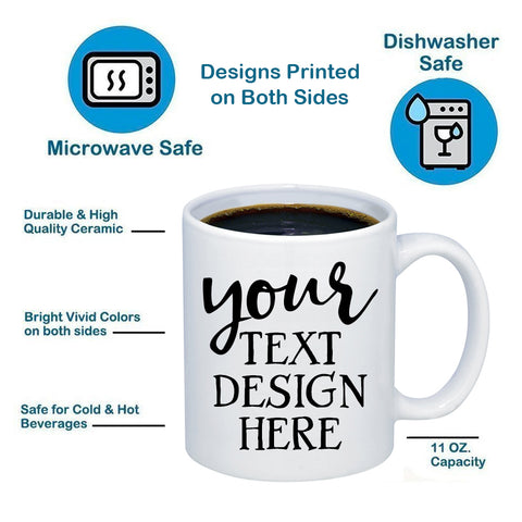 Image of Custom Personalized 11oz 15oz Coffee Mug