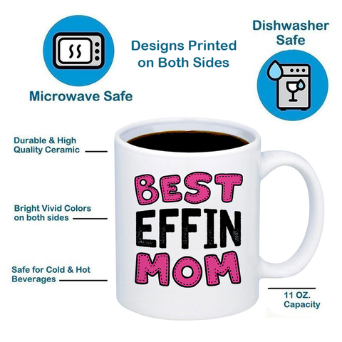 Image of Best Effin Mom 11oz 15oz Coffee Mug
