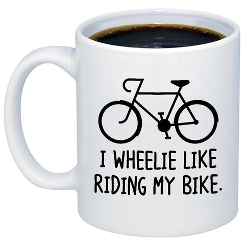 Image of I Wheelie Like My Bike 11oz 15oz Coffee Mug