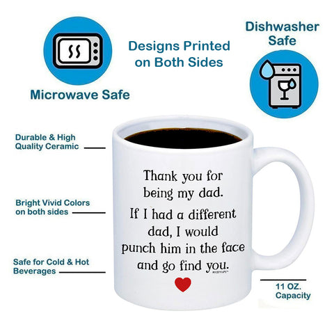 Image of Thank You For Being My Dad 11oz 15oz Coffee Mug