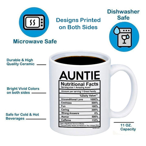Image of Auntie Nutritional Facts 11oz 15oz Coffee Mug