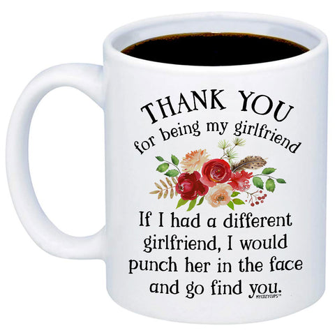 Image of Thank You For Being My Girlfriend 11oz 15oz Coffee Mug