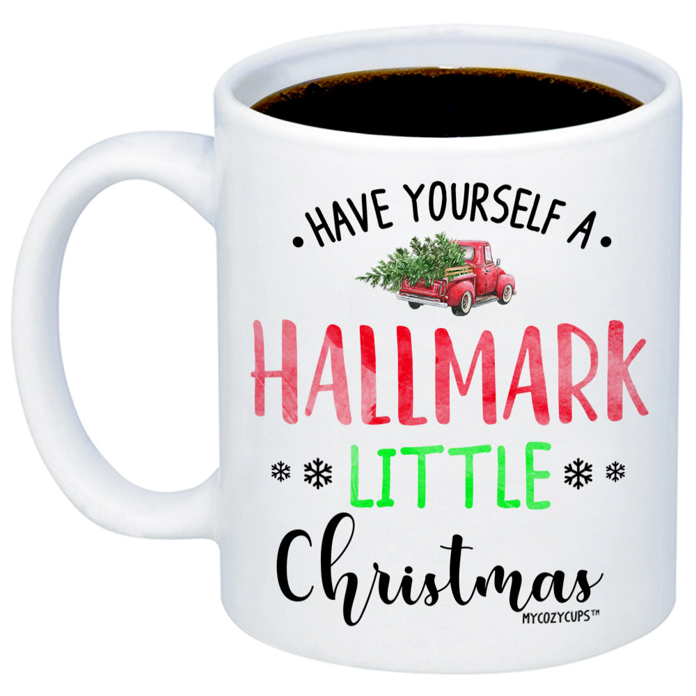 Christmas Coffee Mugs.Have Yourself A Hallmark Little Christmas 11oz 15oz Coffee Mug