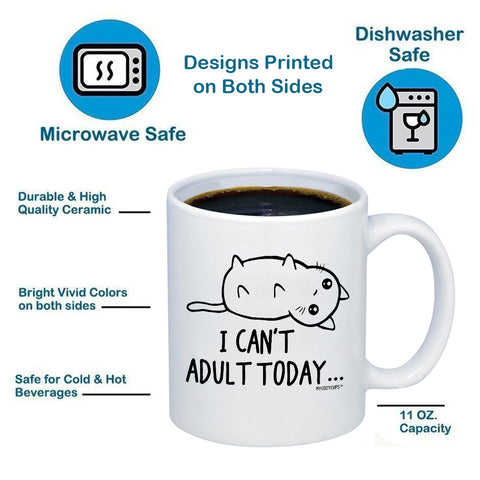 Image of I Can't Adult Today - Cat 11oz 15oz Coffee Mug
