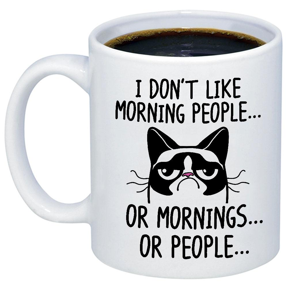 I Don't Like Morning People 11oz 15oz Coffee Mug