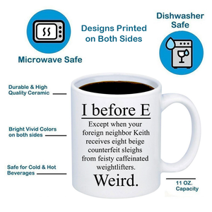 I Before E 11oz 15oz Coffee Mug
