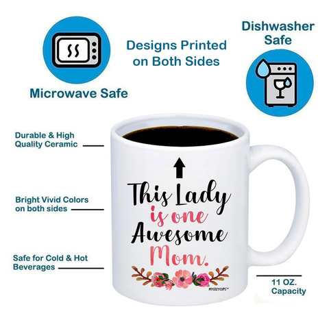 Image of This Lady Is One Awesome Mom 11oz 15oz Coffee Mug