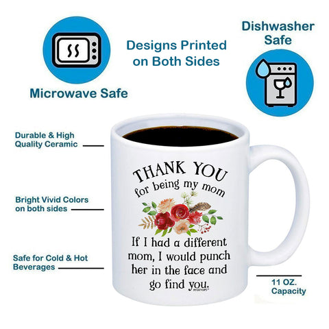 Image of Thank You For Being My Mom 11oz 15oz Coffee Mug