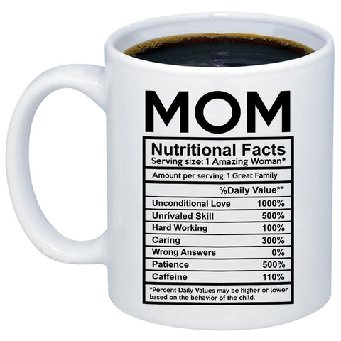 Mom Nutritional Facts 11oz 15oz Coffee Mug