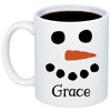 Image of Personalized Snowman Hot Chocolate Christmas Mug 11oz 15oz Cup