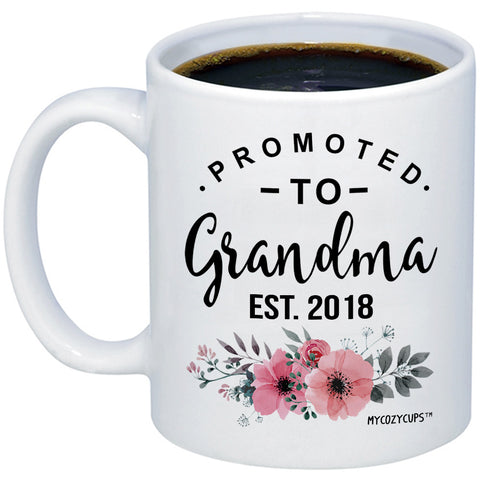 Image of Promoted to Grandma 2018 11oz 15oz Coffee Mug