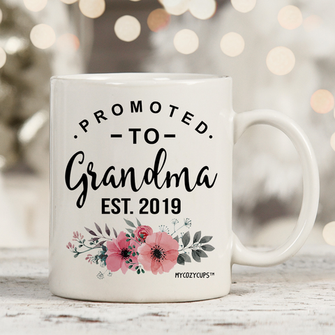Image of Promoted to Grandma 2019 11oz 15oz Coffee Mug