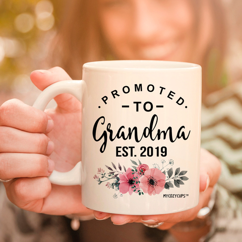 Promoted to Grandma 2019 11oz 15oz Coffee Mug