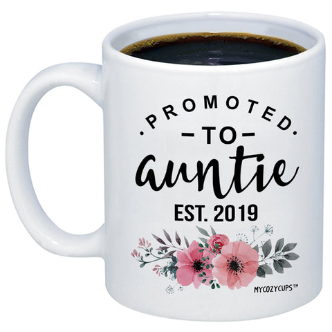 Image of Promoted to Auntie 2019 11oz 15oz Coffee Mug