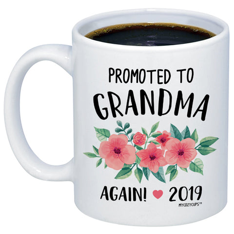 Image of Promoted To Grandma Again 2019 11oz 15oz Coffee Mug
