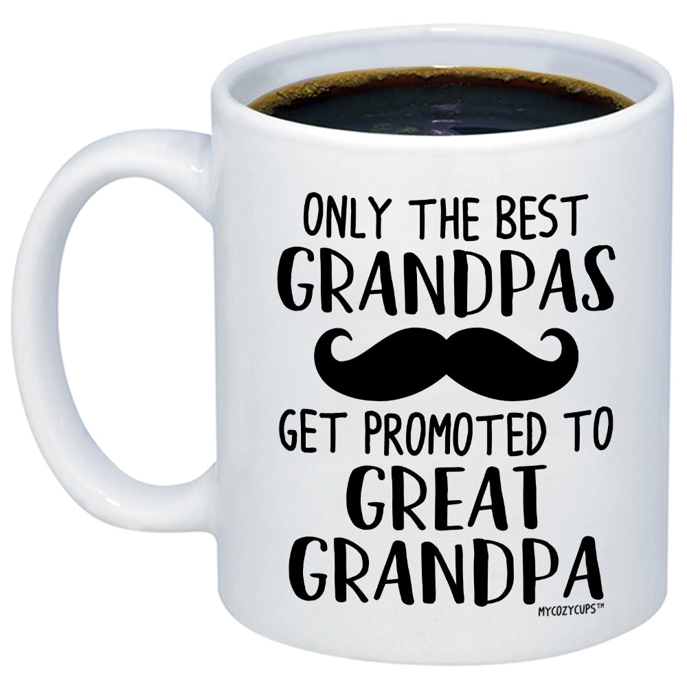 428626742a6 Baby Reveal Gift For Gift - Promoted to Great Grandpa Coffee Mug ...