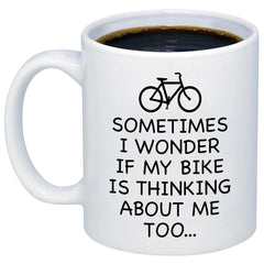 Sometimes I Wonder If My Bike 11oz 15oz Coffee Mug