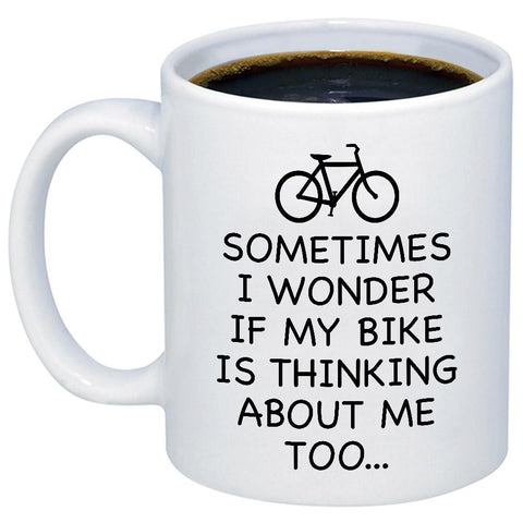 Image of Sometimes I Wonder If My Bike 11oz 15oz Coffee Mug