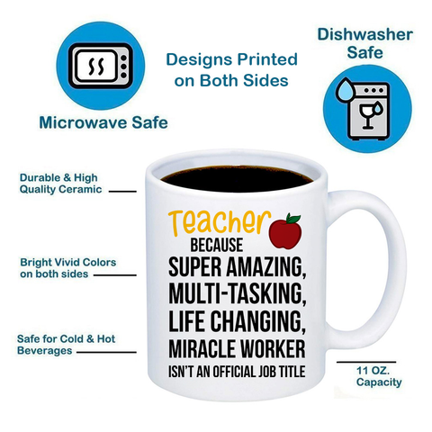 Image of Teacher Miracle Worker 11oz 15oz Coffee Mug
