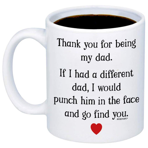 Thank Punch DAD 11oz 15oz Coffee Mug