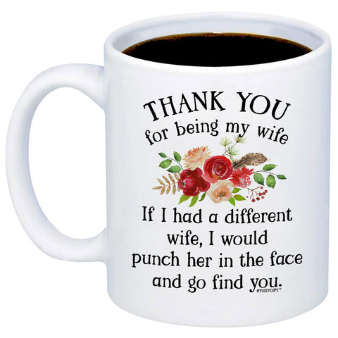 Image of Thank You For Being My Wife 11oz 15oz Coffee Mug