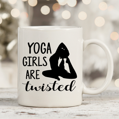 Yoga Girls Are Twisted 11oz 15oz Coffee Mug