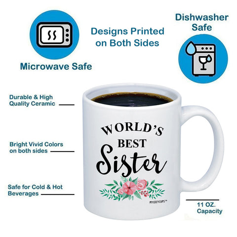 World's Best Sister 11oz 15oz Coffee Mug