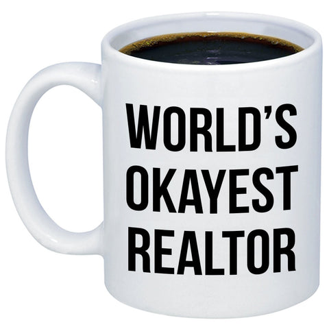 Image of World's Okayest Realtor 11oz 15oz Coffee Mug