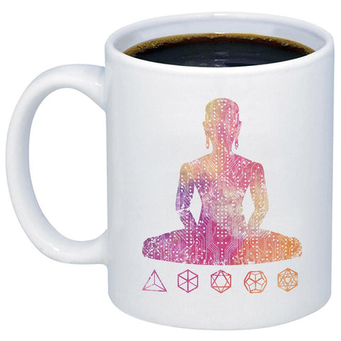 Image of Chakra Meditation 11oz 15oz Coffee Mug