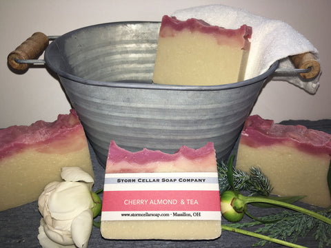 Cherry Almond Tea Twister Soap