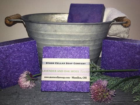 Lavender and Oak Moss Twister Soap