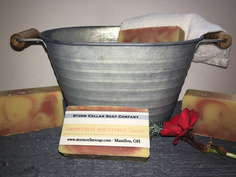 Grapefruit and Citrus Twister Soap