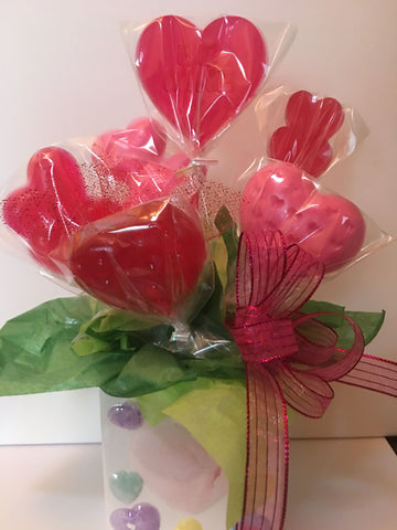 Soap Pop Bouquet-ceramic container