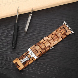 100% Natural Wooden Apple Watch Band