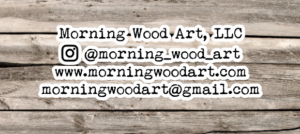 Morning Wood Art, LLC wooden wall decor shirts and more