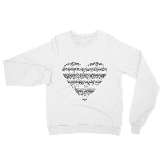 Jane Austen Love Quotes Sweatshirt - Black Font