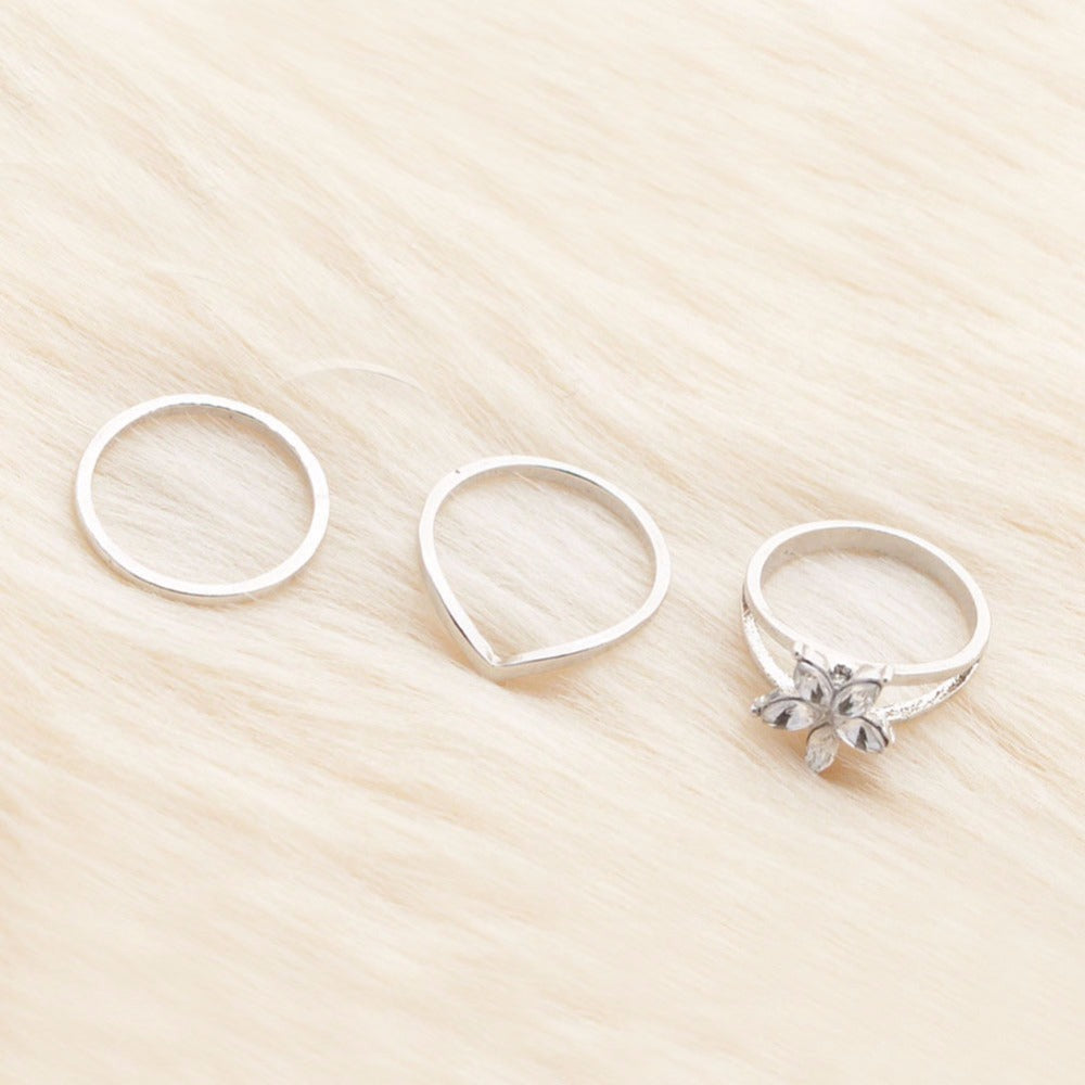 Teal Waters 3 pc Toe Ring Set