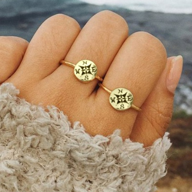 Finding Love Compass Ring