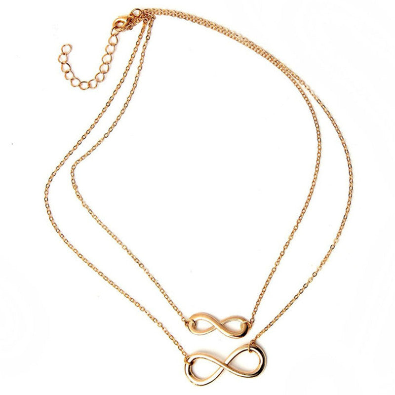 Double infinity necklace grace callie designs double infinity necklace aloadofball Image collections